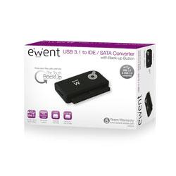 ADAPTADOR HDD EWENT USB3.0 IDE/SATA 2,5''/3,5''/5,25'' | Quonty.com | EW7016