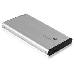 CAJA EXT. HDD EWENT EW7042 2.5'' IDE USB2.0 PLATA ALUMINIO | Quonty.com | EW7042