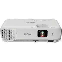 PROYECTOR PORTÁTIL 3LCD EPSON EB-S05 - 3200 LUMENES - 15000:1 - 800X600 SVGA - ZOOM DIG. 1.35X - VGA/HDMI/COMPUESTO/USB - ALT. 2W | Quonty.com | V11H838040