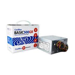 FUENTE ALIMENTACION 500W COOLBOX 500GR 2SATA MOLEX 12CM ATX | Quonty.com | COO-FA500BGR