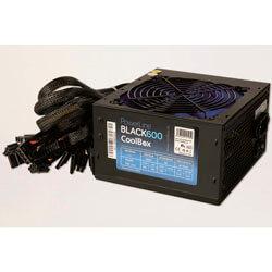 FUENTE ALIMENTACION 600W COOLBOX POWERLINE PFC-PASIVO 4SATA MOLEX PCI-E 12CM ATX | Quonty.com | COO-FAPW600-BK