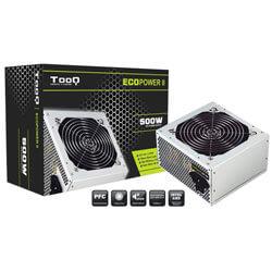 FUENTE ALIMENTACION 500W TOOQ ECOPOWER II PFC-PASIVO 4SATA PCI-E 12CM ATX | Quonty.com | TQEP-500SP