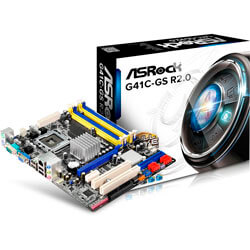 PLACA ASROCK G41C-GS R2.0 INTEL775 2DDR2/3 VGA SATA2 USB2.0 MATX | Quonty.com | 90-MXGU10-A0UAYZ