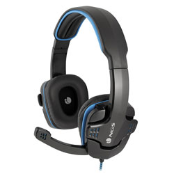 AURICULARES C/MICROFONO NGS GHX-505 GAMING NEGRO/AZUL | Quonty.com | GHX-505
