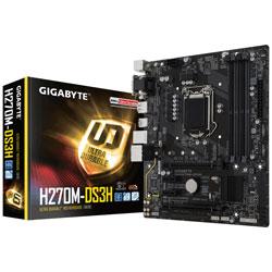 PLACA GIGABYTE H270M-DS3H INTEL1151 DDR4 HDMI PCIE3.0 M.2 SATA3 USB3.1 MATX | Quonty.com | GA-H270M-DS3H
