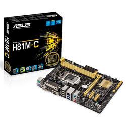 PLACA ASUS H81M-C INTEL1150 2DDR3 DVI SATA3 USB3.0 PARALELO MATX | Quonty.com | 90MB0GT0-M0EAY0