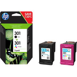 TINTA HP N9J72AE / J3M81AE / CR340 PACK Nº 301 NEGRO / COLOR | Quonty.com | N9J72AE