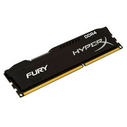 MEMORIA KINGSTON DIMM DDR4 8GB 2133MHZ CL14 HYPERX FURY BLACK SR | Quonty.com | HX421C14FB2/8