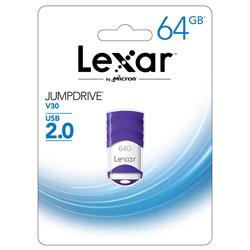 PENDRIVE LEXAR 64GB USB2.0 V30 BLANCO/MORADO | Quonty.com | LJDV30-64GABEU