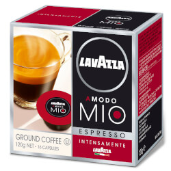 16 Cápsulas Lavazza A Modo Mio Espresso Intensamente   Quonty.com   INTENSAMENTE