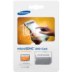 MICROSD SAMSUNG 16GB CL10 UHS-I EVO ADAPTADOR SD | Quonty.com | MB-MP16DA/EU