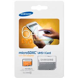 MICROSD SAMSUNG 64GB CL10 UHS-I EVO ADAPTADOR SD | Quonty.com | MB-MP64DA/EU