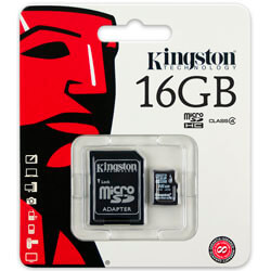 MICROSD KINGSTON 16GB CL4 ADAPTADOR | Quonty.com | SDC4/16GB