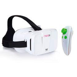 GAFAS 3D REALIDAD VIRTUAL SMARTPHONE WOXTER NEO VR1 WHITE KIT   Quonty.com   MV26-206
