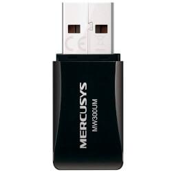 Adaptador Red Mercusys Mw300um Usb2.0 Wifi-N/300mbps Mini | Quonty.com | MW300UM