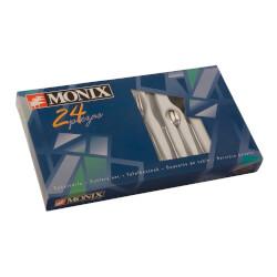 SET 24 PIEZAS CUBIERTOS MONIX REIMS ACERO INOXIDABLE | Quonty.com | M121970
