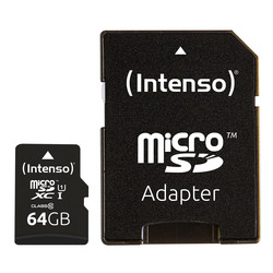 Microsd Intenso 3423490 Uhs-I Premium 64gb C/Adap | Quonty.com | 3423490