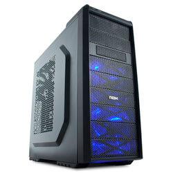 CAJA SEMITORRE/ATX NOX COOLBAY SX S/FUENTE USB3.0 NEGRA LED-AZUL CONT.VENTILADORES | Quonty.com | NXCBAYSX