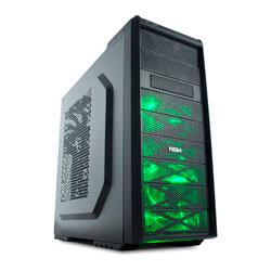 CAJA SEMITORRE/ATX NOX COOLBAY SX USB3.0 LED-VERDE | Quonty.com | NXCBAYSXG