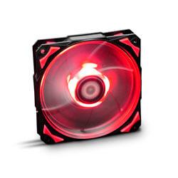 Ventilador Nox Hfan 12cm 1.600rpm Leds-Rojos | Quonty.com | NXHUMMERF120LR