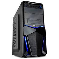 CAJA SEMITORRE/ATX NOX NXPAX BLUE EDITION S/FUENTE USB3.0 NEGRA | Quonty.com | NXPAX