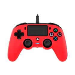 MANDO PARA PS4 NACON COMPACT CONTROLLER RED - PANEL TÁCTIL | Quonty.com | NAC PS4 RED
