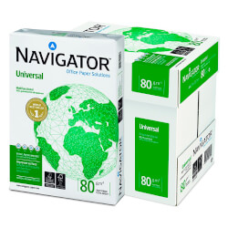 PAPEL NAVIGATOR 5 PAQ. X 500 HOJAS A4 80GR | Quonty.com | 0472UN