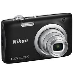 "CAMARA DIGITAL NIKON COOLPIX A100 NEGRA - 20.1MPX - ZOOM OPTICO 5X - TFT 2.7""/6.7CM - VIDEO 720P HD - ESTABIL. DIGITAL - SD - BAT + FUNDA Y PALO SELFI | Quonty.com | 999A100B12"
