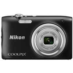 "CAMARA DIGITAL NIKON COOLPIX A10 NEGRA - 16.1MPX - ZOOM OPTICO 5X - TFT 2.7""/6.7CM - VIDEO 720P HD - ESTABIL. DIGITAL - SD - 2xAA + FUNDA | Quonty.com | 999A10B1"