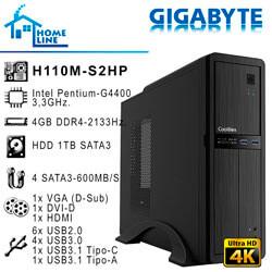 ORD. ECONOMIC INTEL G3900 ASUS H110M-D 4GB-2133MHZ 1TB DVDRW / CAJA COOLBOX T300 | Quonty.com | ORDHLG3900-H1-T300