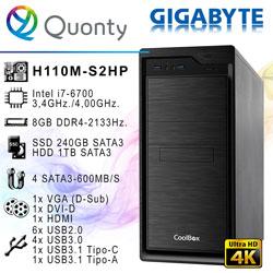 ORD. PROFESSIONAL INTEL I7-6700 GIGABYTE H110M-S2HP 8GB-2133MHZ 1TB SSD240GB DRW / CAJA COOLBOX F800   Quonty.com   ORDHLG6700-H1S2