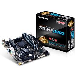 PLACA GIGABYTE 78LMT-USB3 AM3+ 4DDR3 HDMI SATA2 USB3.0 MATX | Quonty.com | GA-78LMT-USB3