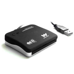 LECTOR EXTERNO USB2.0 WOXTER DNIE | Quonty.com | PE26-003