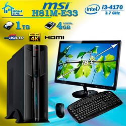 PACK ORD. ECONOMIC I3-4170 4GB 1TB PB-MSI + MONITOR 18,5'' + TECLADO/RATON | Quonty.com | PK-M4170