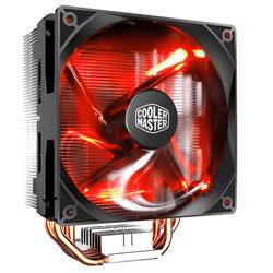 REFRIGERADOR CPU COOLER MASTER HYPER 212 - MULTISOCKET INTEL/AMD LED ROJO | Quonty.com | RR-212L-16PR-R1
