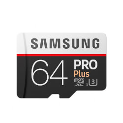 MICROSD SAMSUNG PRO PLUS 64GB CL10 100MB/S ADAPT.SD | Quonty.com | MB-MD64GA/EU