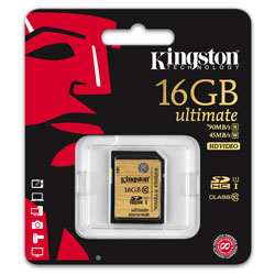 SD KINGSTON 16GB CL10 UHS-I ULTIMATE | Quonty.com | SDA10/16GB