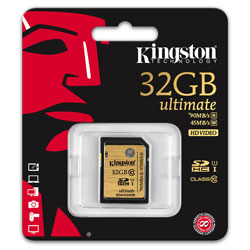 SD KINGSTON 32GB CL10 UHS-I ULTIMATE | Quonty.com | SDA10/32GB