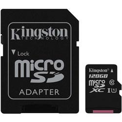 MICROSD KINGSTON 128GB CL10 UHS-I ADAPTADOR SD | Quonty.com | SDC10G2/128GB