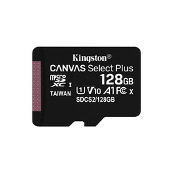 Microsd Kingston 128gb Cl10 Uhs-L Canvas Select Plus | Quonty.com | SDCS2/128GBSP