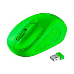 RATÓN TRUST PRIMO WIRELESS NEON GREEN 1600DPI USB   Quonty.com   21922