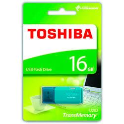 PENDRIVE TOSHIBA 16GB USB2.0 HAYABUSA AQUA | Quonty.com | THN-U202L0160E4