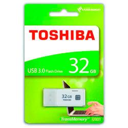 PENDRIVE TOSHIBA 32GB USB3.0 HAYABUSA BLANCO | Quonty.com | THN-U301W0320E4