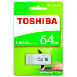 PENDRIVE TOSHIBA 64GB USB3.0 HAYABUSA BLANCO | Quonty.com | THN-U301W640E4