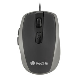 RATON NGS TICK SILVER OPTICO 1600DPI USB NEGRO/PLATA | Quonty.com | TICKSILVER