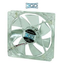 3GO FAN12RL 12CM 1.200RPM LEDS-ROJOS | Quonty.com | FAN12RL