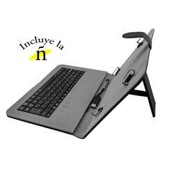 FUNDA TABLET WOXTER COVER KEY 80 C/TECLADO NEGRO | Quonty.com | TB26-096