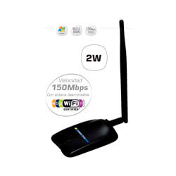 ADAPTADOR RED CONNECTION WNU-2WS USB2.0 WIFI-N/150MBPS 2W 1ANTENA-5DBI | Quonty.com | WNU-2WS