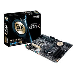 PLACA ASUS Z170-K INTEL1151 4DDR4 HDMI PCX3.0 SATA3 USB3.1 ATX | Quonty.com | 90MB0NB0-M0EAY0