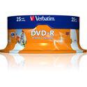 DVD-R VERBATIM 4.7GB 120MIN 16X PRINTABLES 25UNDS | Quonty.com | 43538